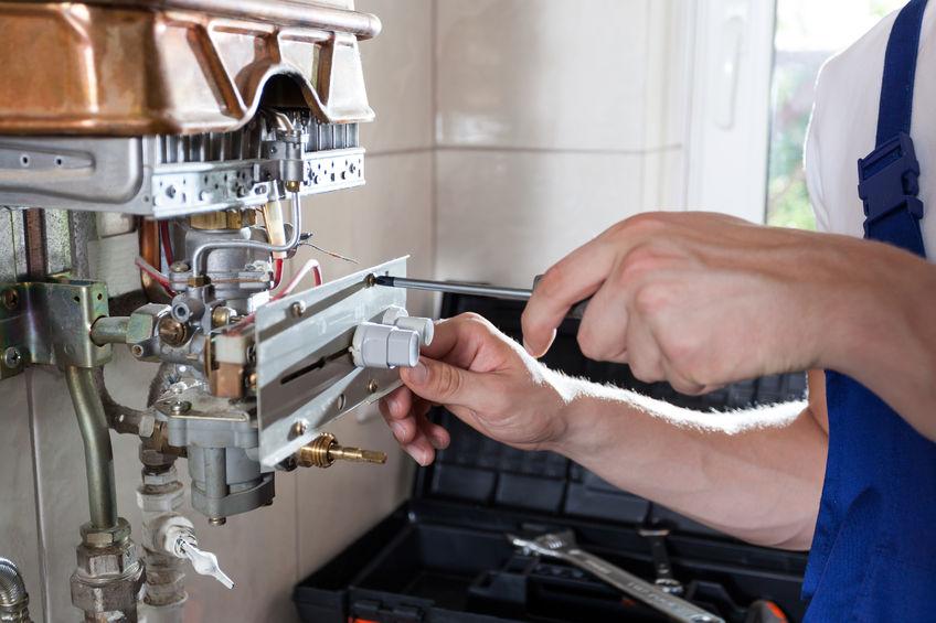 Gaswaterinstallatie repareren